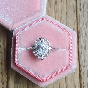 Jewelry - 925 Silver Engagement Wedding Bridal Pave Ring